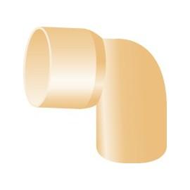 Curva PVC avorio 87°