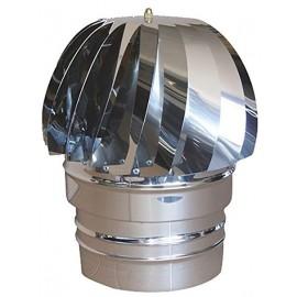 Aspiratore eolico per camino inox (tondo)