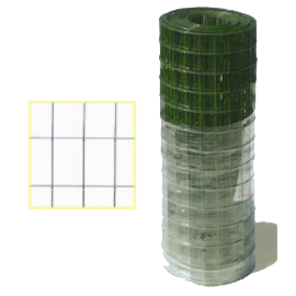 Rete elettrosaldata plastificata ITALIA maglia 50x75 Filo 2 mm