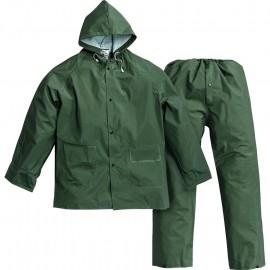 Impermeabile verde antistrappo giacca pantalone