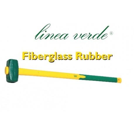 Mazza a coppia con manico fiber. rubber.