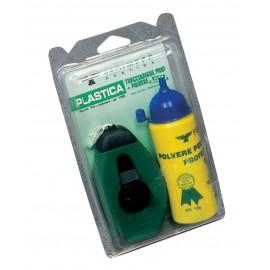 Tracciarighe plastica con polvere + livella