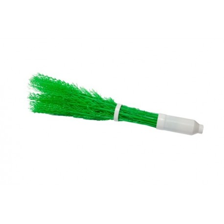 Scopa perfetta verde con manico