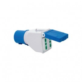Adattatore industriale CE/IMQ IP44 bipasso